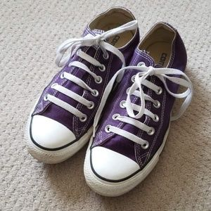 CONVERSE LOW TOPS - PURPLE - M7/W9